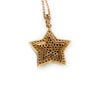 Stunning 18K Rose Gold Black & White Diamond Star Pendant Necklace