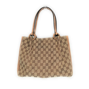 Gucci Vintage GG Canvas Tote with Attached Zip Pouch
