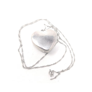 Sterling Silver Three Citrine stone Heart Chain Necklace