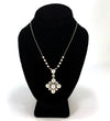 GORGEOUS Akoya Pearl & Diamond Pendant on 18K White Gold Belcher Chain