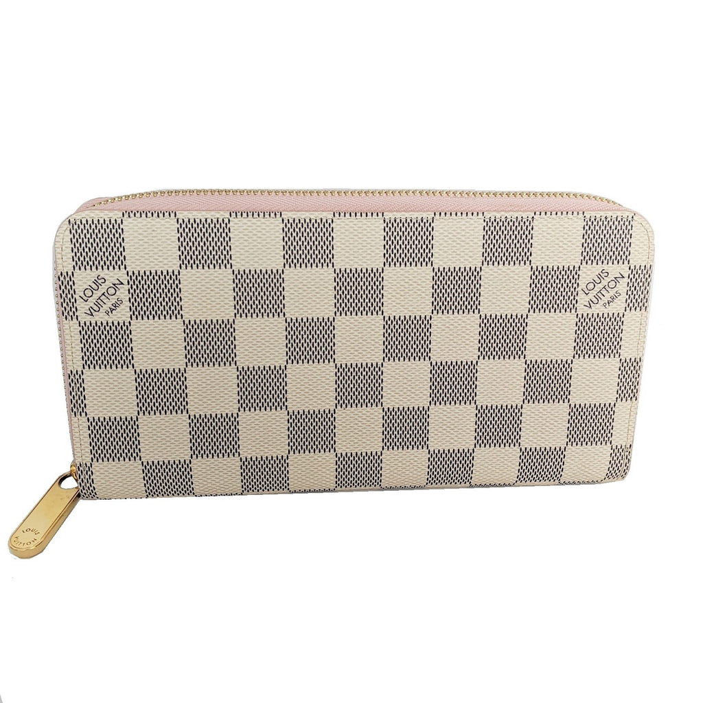 Louis Vuitton Damier Azur Rose Ballerine Zippy Wallet