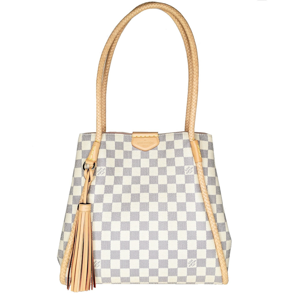 Louis Vuitton Damier Azur Propriano Shoulder Bag Tote 2019
