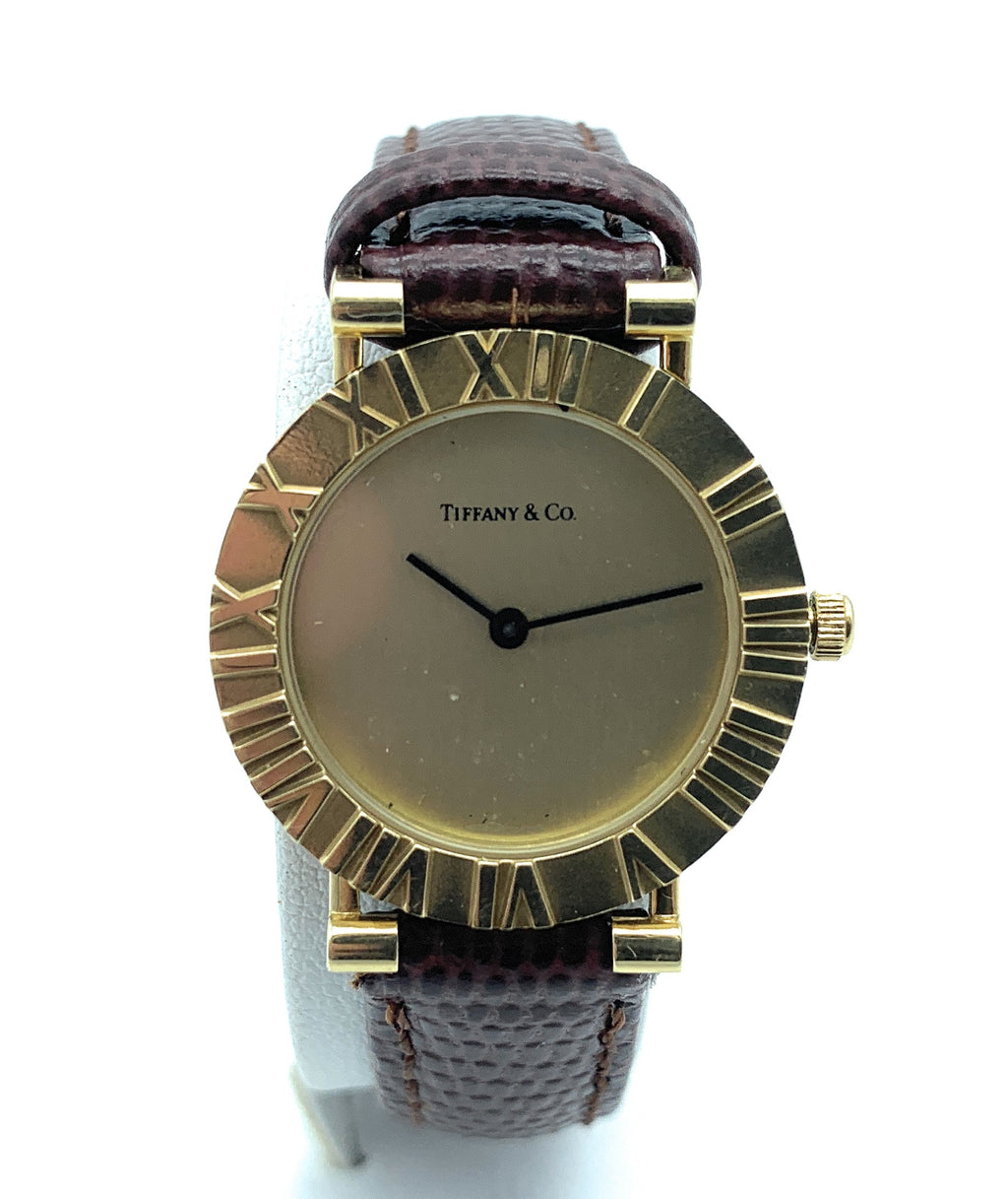Vintage 18K Yellow Gold Tiffany & Co. Atlas 23mm Ladies Watch