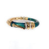 La Nouvelle Bague Diamond Enamel 18k Gold & Sterling Silver Flex Bangle Bracelet