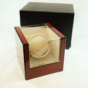 Electric Single Watch Winder Wood Finish Display