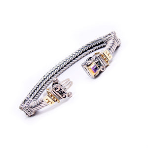 Frederica Amethyst Sterling Silver & 18kt Yellow Gold Bracelet