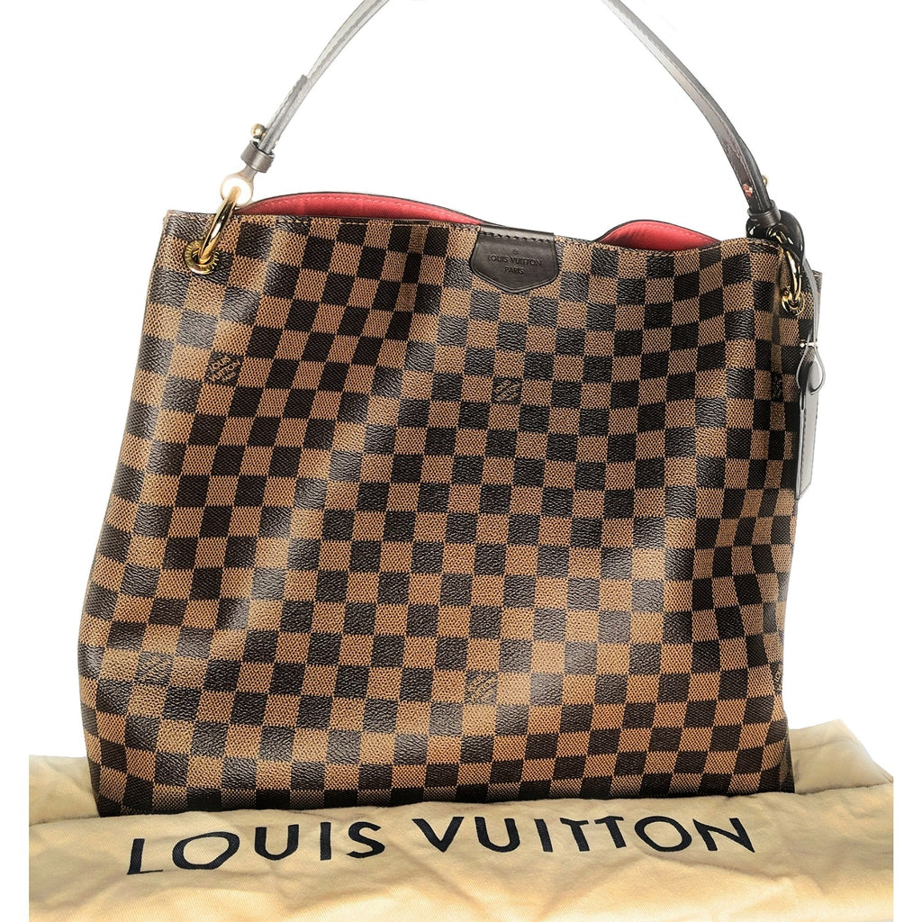 Louis Vuitton Damier Ebene Graceful MM Hobo Bag