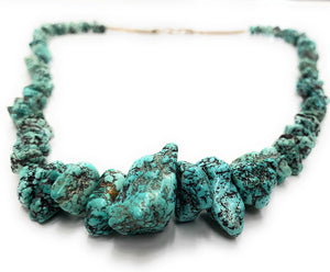 FABULOUS Vintage Seafoam Nugget Turquoise & Heishi Bead Strand Necklace