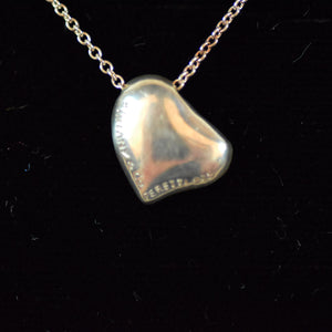 Tiffany & Co Elsa Peretti Sterling Silver Full Heart Pendant Necklace