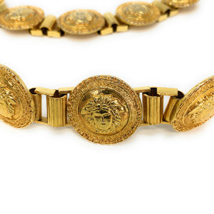 VINTAGE Gianni Versace Massive Medusa Gold Plated Belt