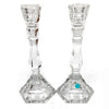 Vintage Tiffany & Co. Crystal Candlesticks - A Pair
