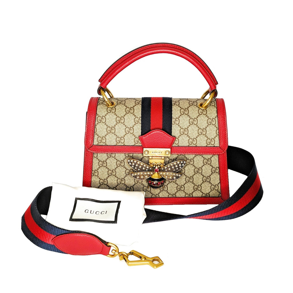 Gucci Queen Margaret Small GG Supreme Top Handle Bag