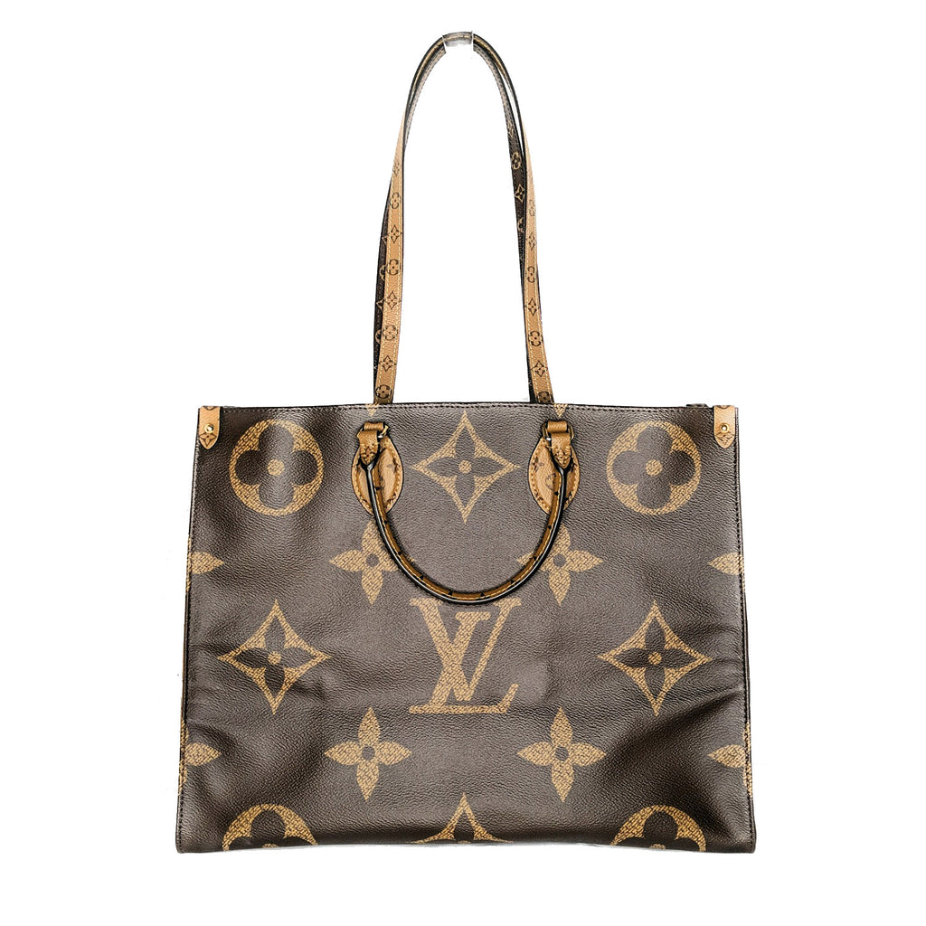 Louis Vuitton Monogram Giant Reverse Canvas Onthego GM Tote