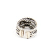 "David Yurman Sterling Silver Diamond ""X"" Crossover Ring Size 5"