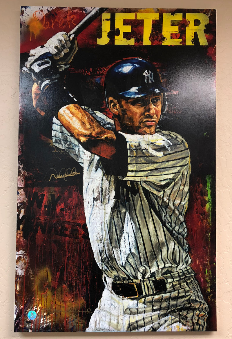 Derek Jeter Stephen Holland AP 17/25 Signed NY Yankees 48x31