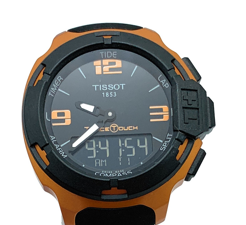 Tissot T-Race Touch Black Dial Orange Alum Case Men's Watch - NEW