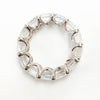 Vintage 14K White Gold Colorless Topaz Eternity Ring - Sz. 8