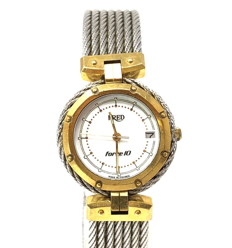 Fred Force 10 18k Yellow Gold Steel Ladies Watch Model 88445