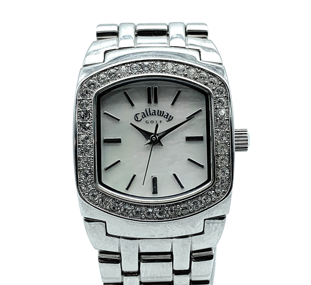 Calloway 'Golf Lady - CY2022' Stainless Steel & Jeweled Bezel Women's Watch