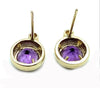 14K Yellow Gold & Amethyst & Diamond Post Earrings