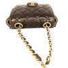 Chanel Vintage Brown Quilted Micro Belt Bag