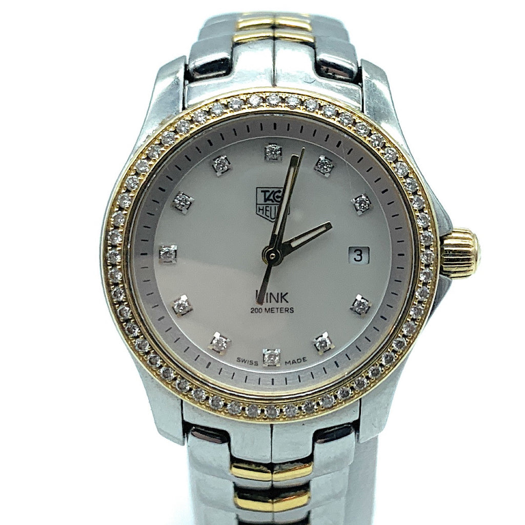 TAG Heuer Link WJF1354 Stainless Steel & 18K Gold & Diamond Bezel Watch - Women's