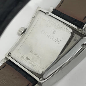 Corum Trapeze 82-404-20 Quartz S.Steel Swiss Movement Black Crocodile Skin Strap