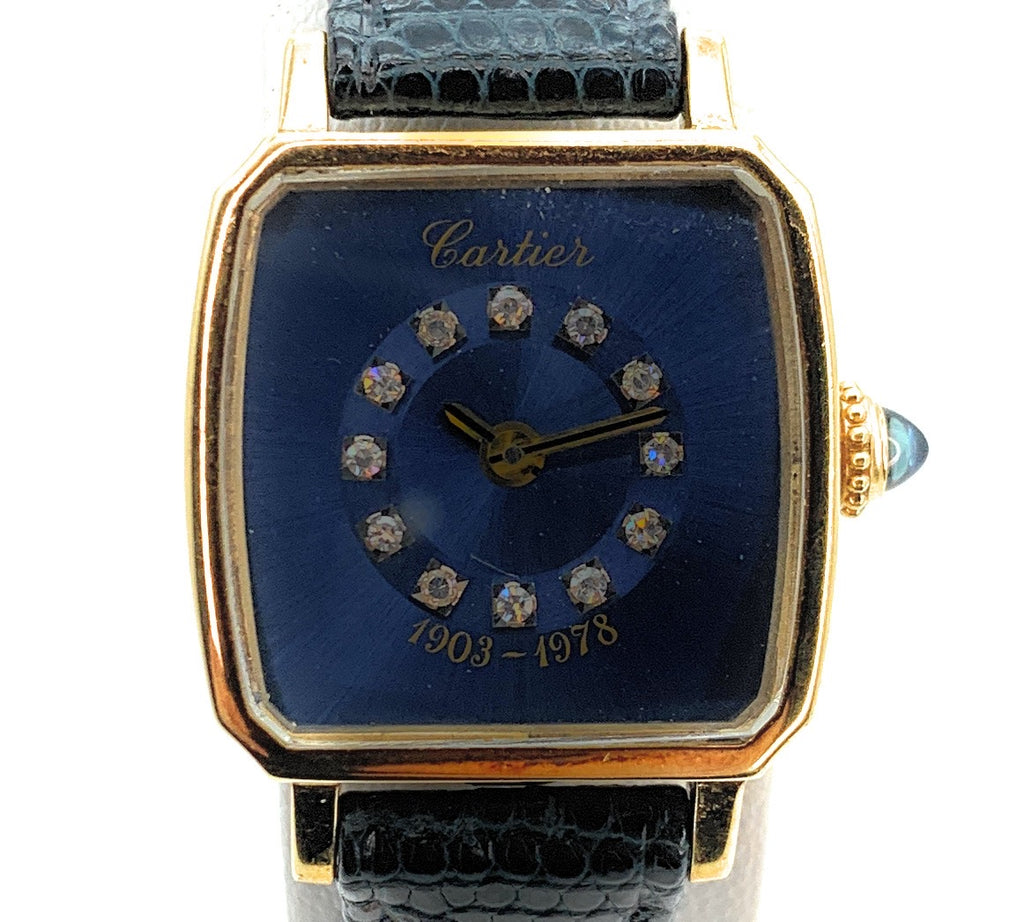 AUTHENTIC! Cartier 18K Yellow Gold Ford Motor Co. 75th Anniversary Ladies Watch