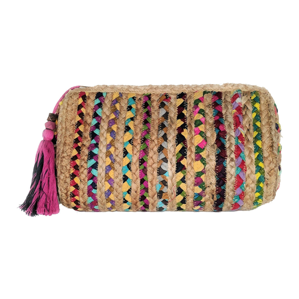 Shiraleah Mirabel Jute Tassel Clutch, Multi