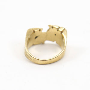 "14K Yellow Gold ""RJ"" Initial Ring"