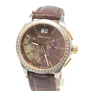 Maurice Lacroix Miros Diamond Bezel Chronograph Ladies Watch