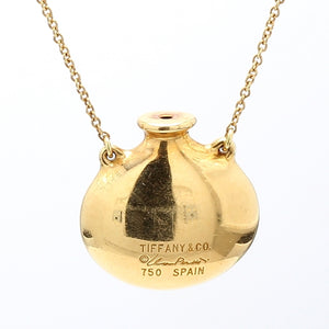 Tiffany & Co. Elsa Peretti 18K Gold Open Bottle Pendant Necklace