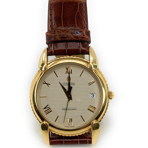 Retro Concord 18K Gold Mens Quartz Impresario 50-C2-212 Watch