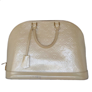 Louis Vuitton Dune Monogram Vernis Alma GM Handbag Satchel