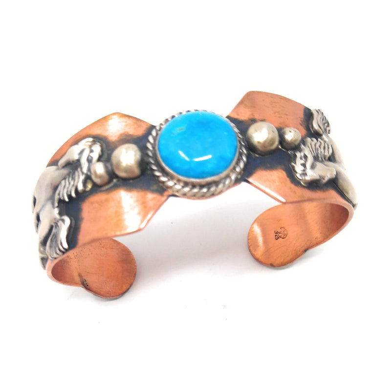 Chaco Canyon Southwest Turquoise Sterling Silver and Copper