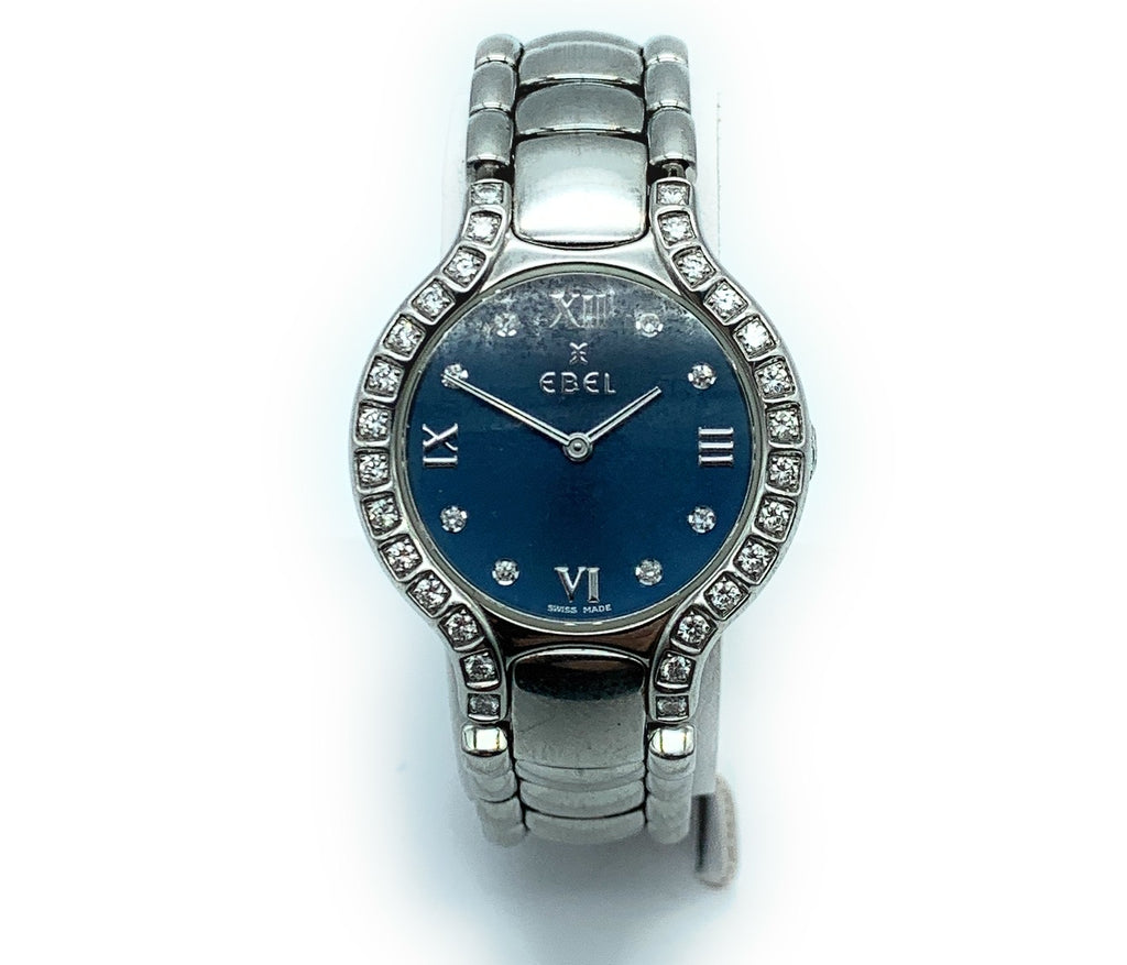 Ebel Beluga Stainless Steel & 0.50ctw Diamond Bezel Ladies Watch