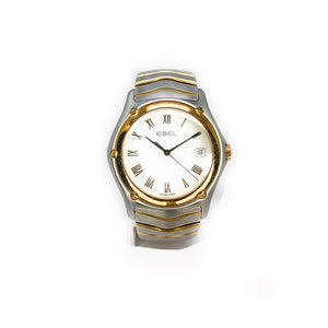 EBEL 18K Gold & Stainless Steel Classic Wave Men's Watch E1187F41-0225