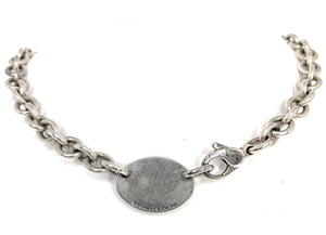 Tiffany & Co. Sterling Silver Return To Tiffany Oval Tag Choker