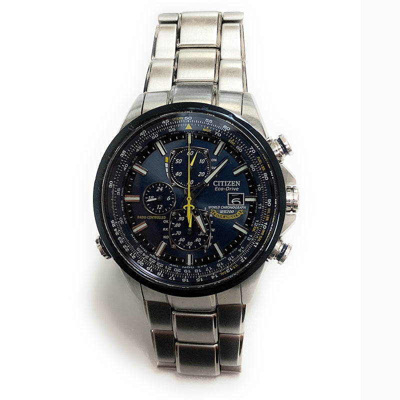 Citizen Blue Angels World Chrono A-T Eco-Drive Atomic Watch AT8020-54L