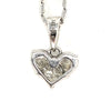 14K White Gold Heart-Shaped 3 Diamond Pendant  (0.50ctw)
