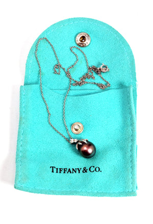 Tiffany & Co. Fireworks Tahitian Pearl Diamond Necklace