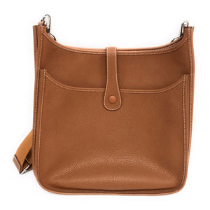 Hermes Evelyne Crossbody Gen III 33 Brown Clemence Leather
