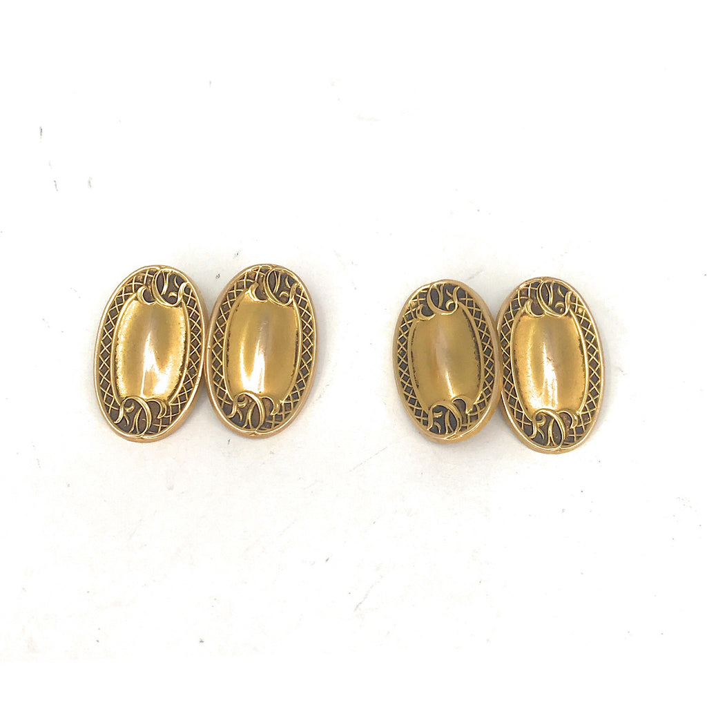 14K Yellow Gold Circa Victorian Cufflinks