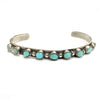 Vintage Navajo Sterling Silver & Royston Turquoise Cuff Bracelet