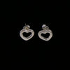 Tiffany & Co. Sterling Silver 925 Open Heart Earrings (Classic)