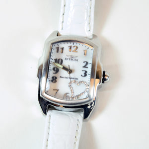 Invicta Lupah Tritnite White Banded Wrist Watch, Model 15114