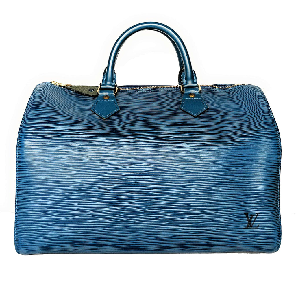 Louis Vuitton Vintage EPI Toledo Blue Speedy 30 Bag