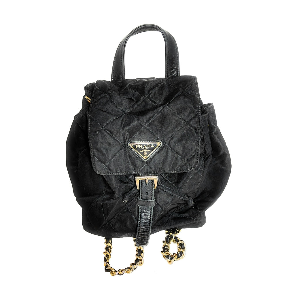 Prada Black Tessuto Impuntu Backpack