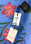 Authentic! GUCCI Wool/Silk Scarf/Wrap with Floral Print