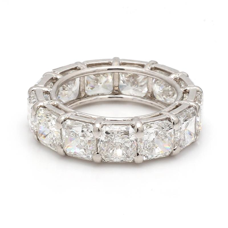 13.15CTW F-I VS2-SI2, RADIANT CUT DIAMOND ETERNITY BAND - GIA CERTIFIED